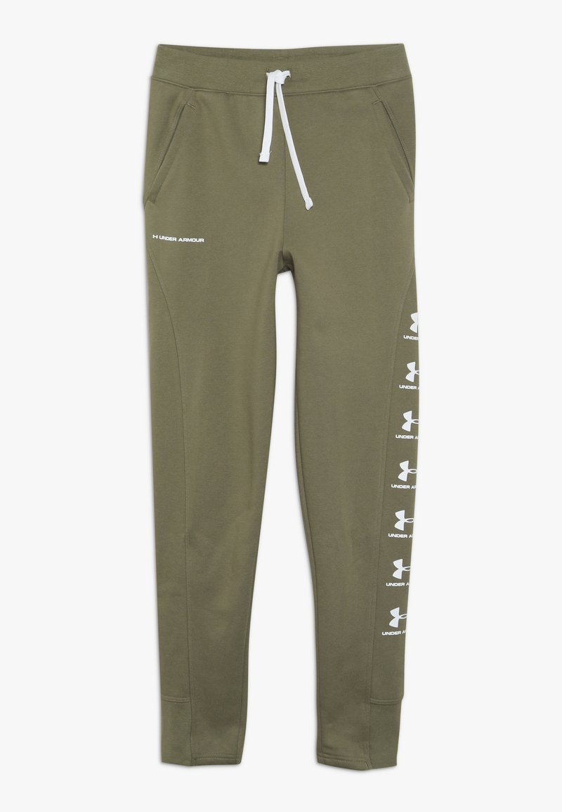 Under Armour - RIVAL - Tracksuit bottoms - outpost green/white