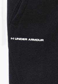 Under Armour - RIVAL - Pantaloni sportivi - black/white - 3