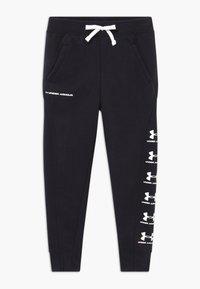 Under Armour - RIVAL - Teplákové kalhoty - black/white - 0