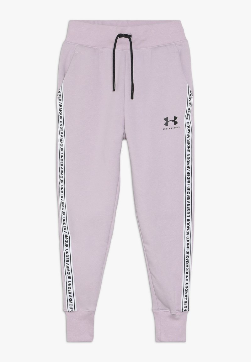 Under Armour - SPORTSTYLE PANT - Teplákové kalhoty - pink fog/black