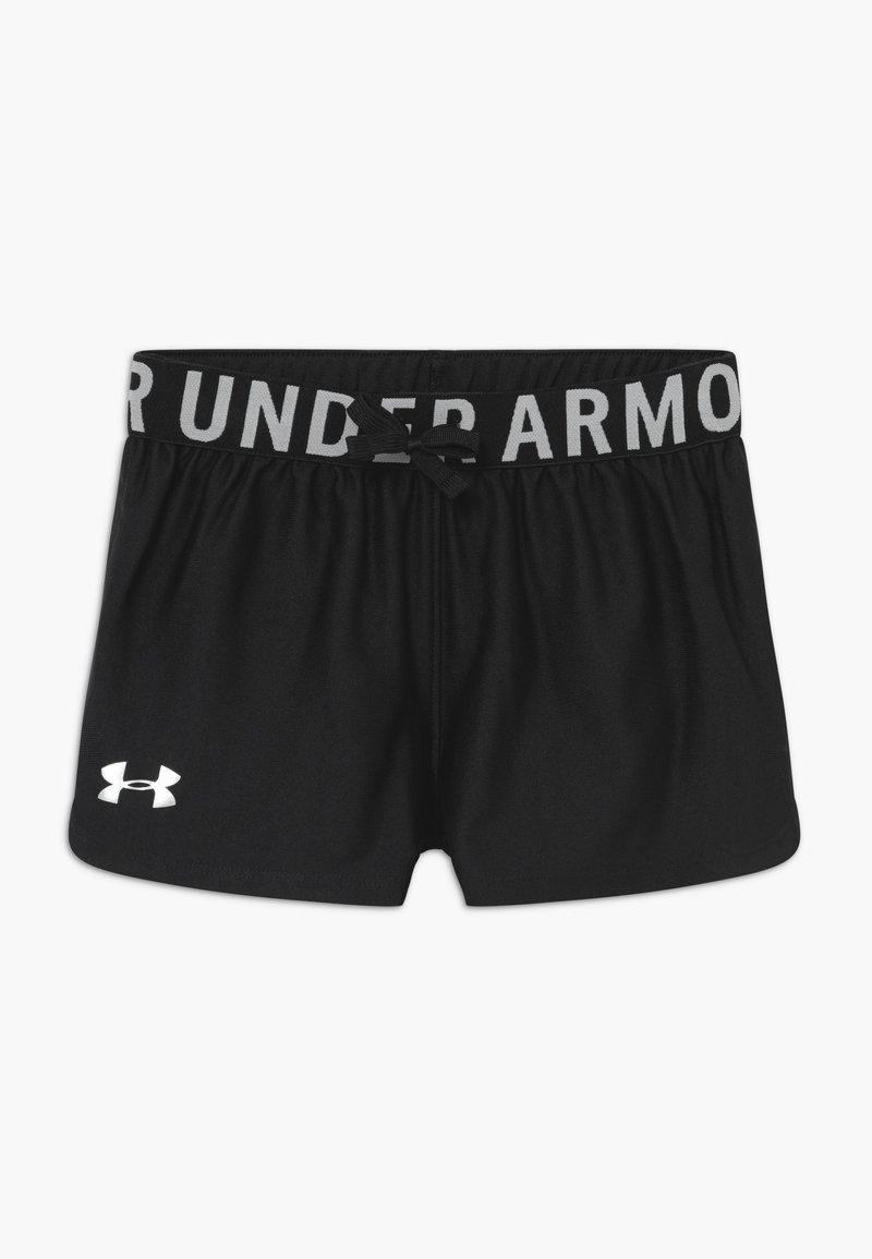 Under Armour - PLAY UP SOLID SHORTS - Pantaloncini sportivi - black/metallic silver