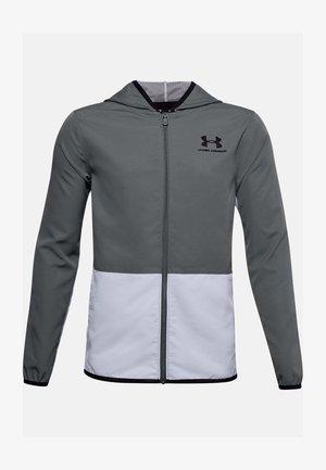 UA WOVEN TRACK JACKET - Training jacket - pitch gray