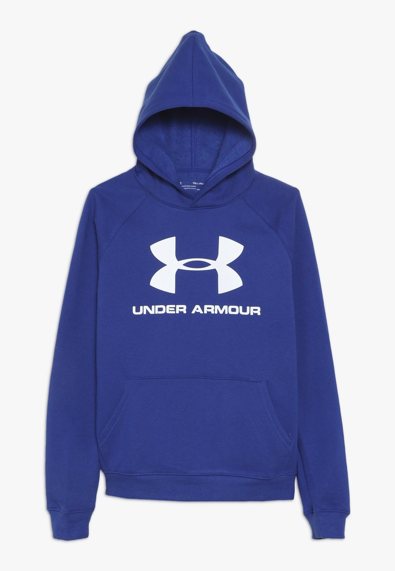 Under Armour - RIVAL LOGO HOODY - Hoodie - royal/white
