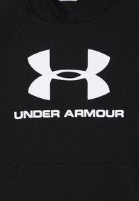Under Armour - RIVAL LOGO HOODY - Hoodie - black/white - 4