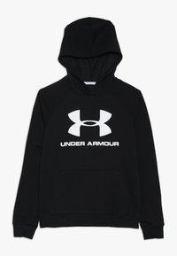 Under Armour - RIVAL LOGO HOODY - Hoodie - black/white - 0