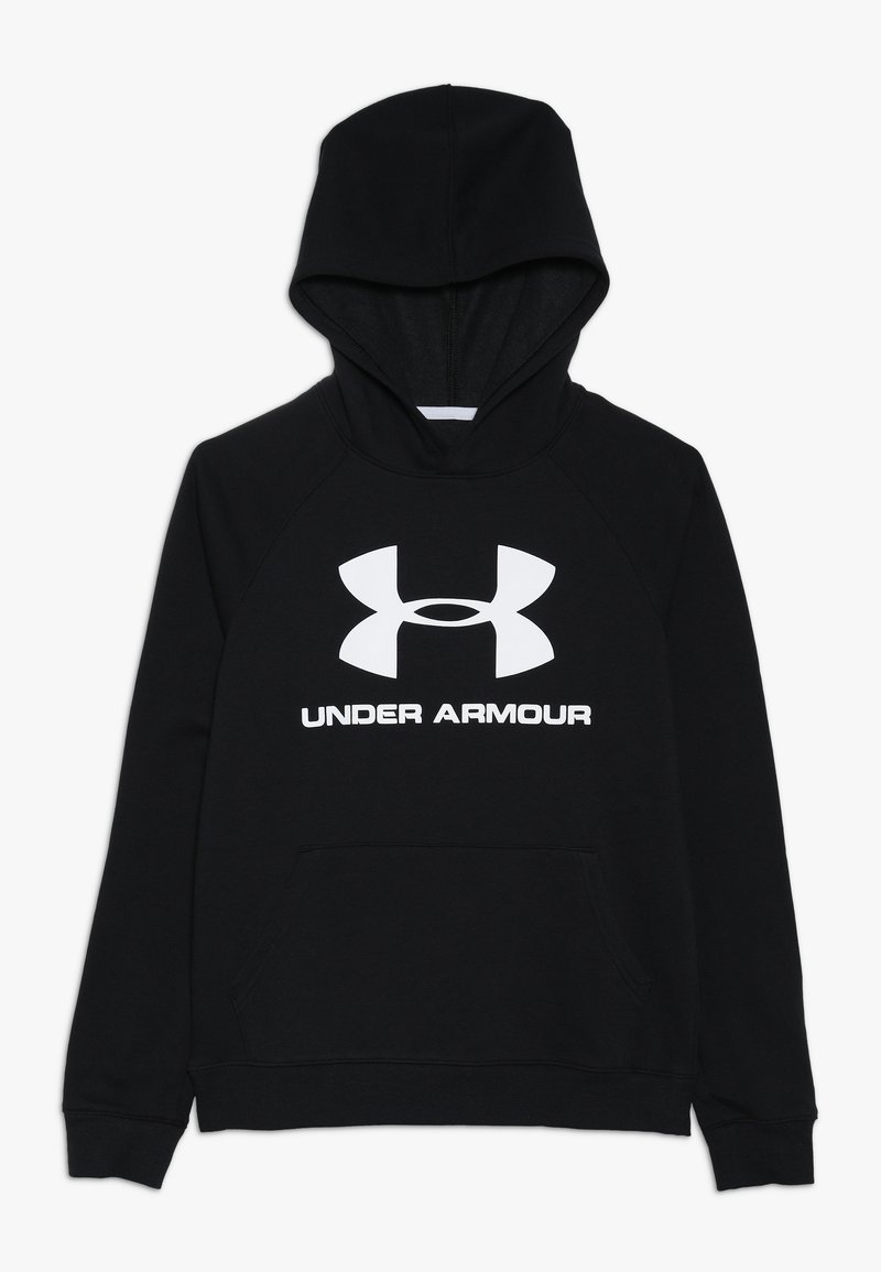 Under Armour - RIVAL LOGO HOODY - Hoodie - black/white