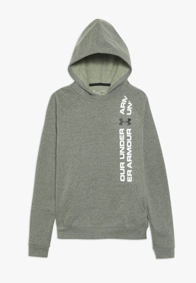 RIVAL WORDMARK HOODY - Sweat à capuche - guardian green light heather/black