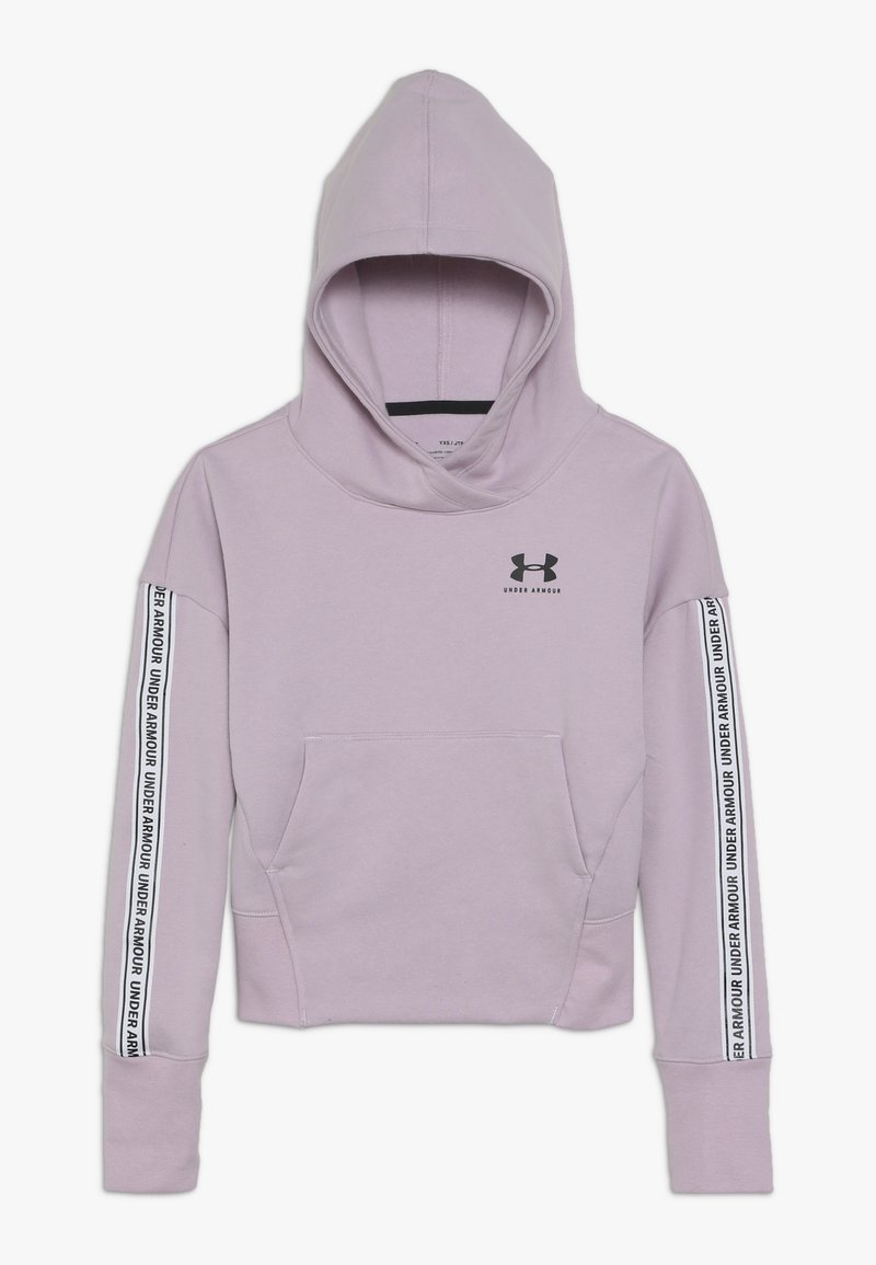 Under Armour - SPORTSTYLE HOODY - Hoodie - pink fog/black