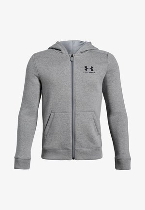 Zip-up hoodie - steel light heather
