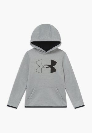 ARMOUR BRANDED HOODIE - Jersey con capucha - gray/black