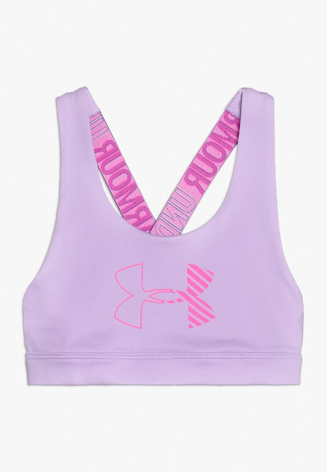 HEATGEAR GRAPHIC BRA - Reggiseno sportivo - purple ace/mojo pink