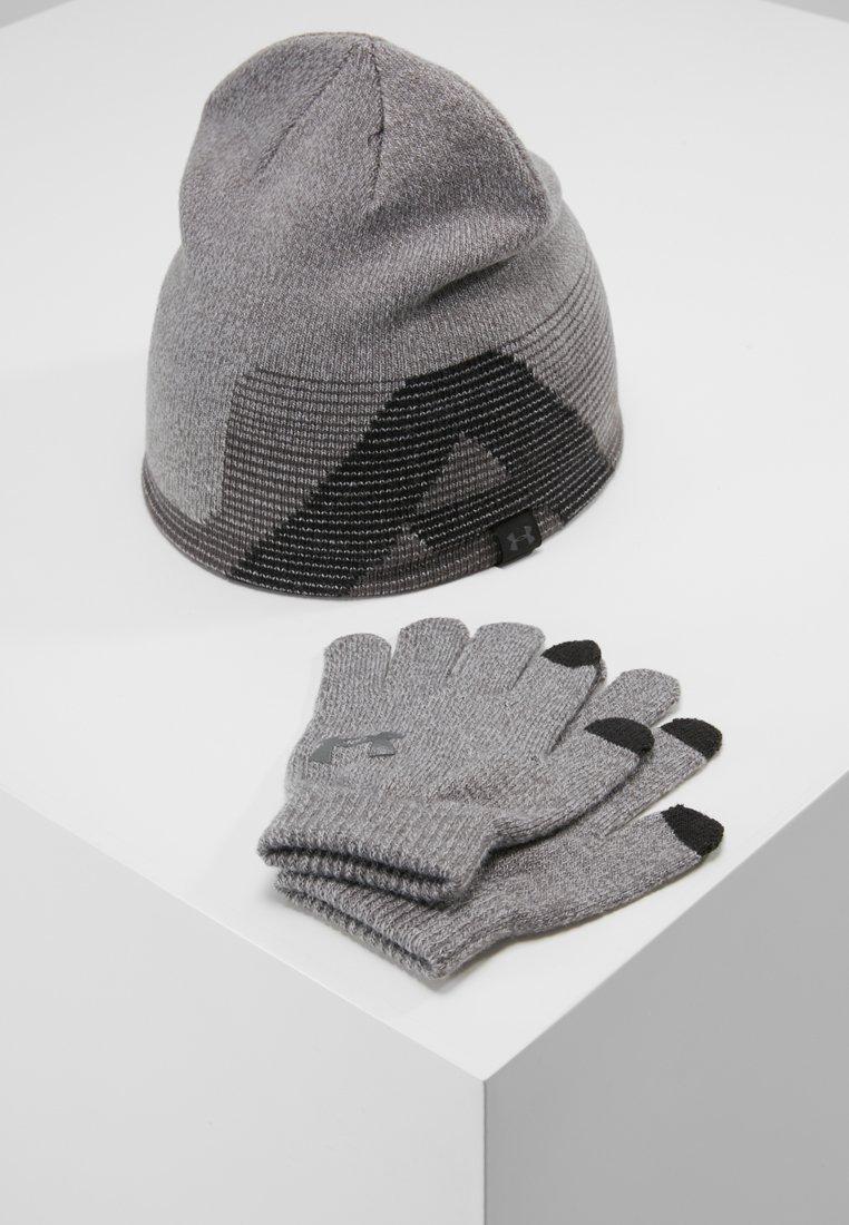 Under Armour - BEANIE GLOVE COMBO SET - Handschoenen - steel/black/charcoal