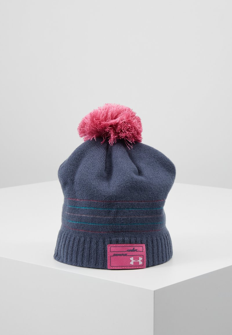 Under Armour - GIRL'S TRIPLE SCOOP BEANIE - Čepice - downpour gray/pace pink/pink fog