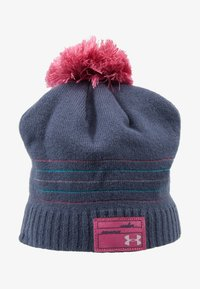 Under Armour - GIRL'S TRIPLE SCOOP BEANIE - Čepice - downpour gray/pace pink/pink fog - 1
