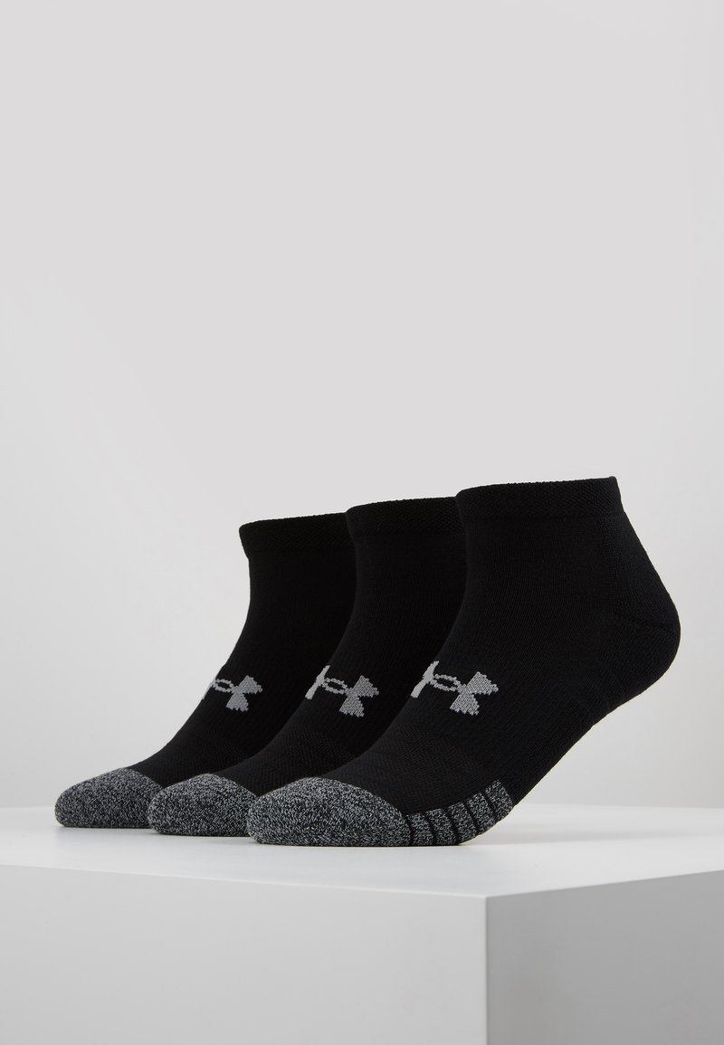 Under Armour - HEATGEAR LOCUT 3 PACK - Träningssockor - black/steel