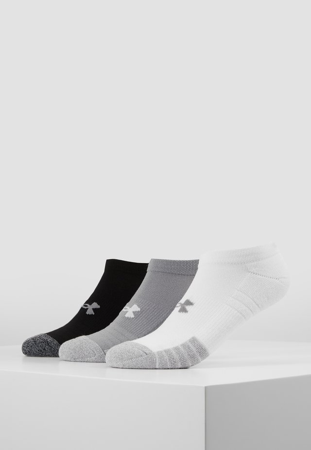 HEATGEAR 3 PACK - Calcetines tobilleros - steel/white/black