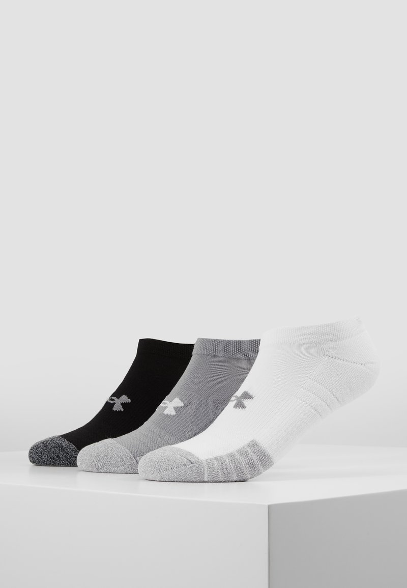 Under Armour - HEATGEAR 3 PACK - Trainer socks - steel/white/black