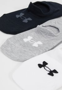 Under Armour - ULTRA LO 3 PACK - Enkelsokken - white/steel full heather/black - 2