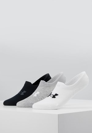 ULTRA LO 3 PACK - Trainer socks - white/steel full heather/black