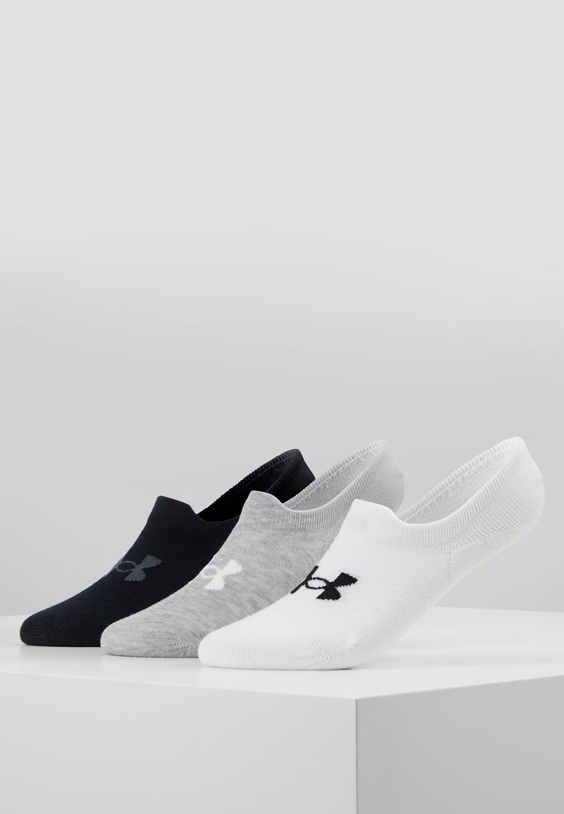 Under Armour - ULTRA LO 3 PACK - Enkelsokken - white/steel full heather/black