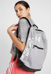 Under Armour - PATTERSON BACKPACK - Tagesrucksack - steel medium heather/black/white - 2
