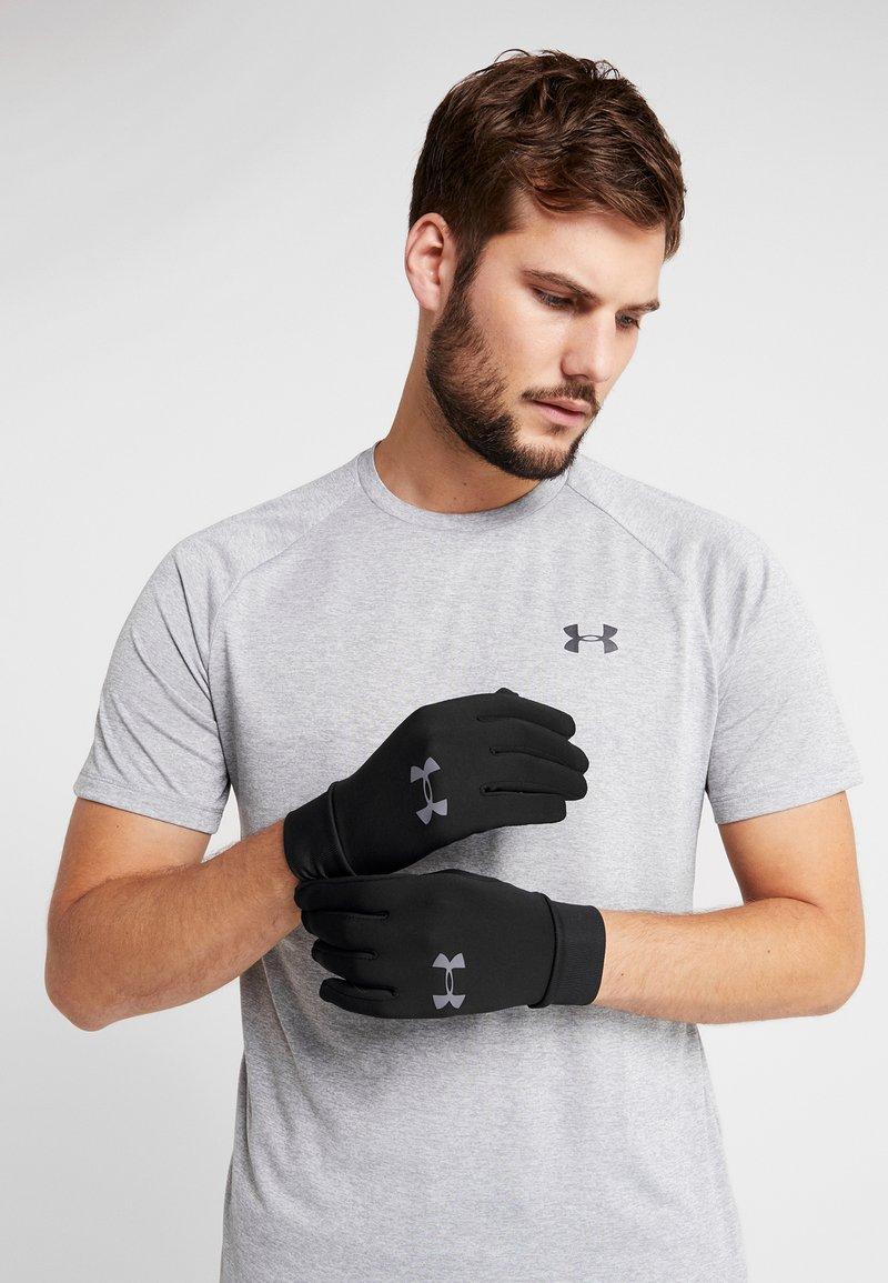 Under Armour - MEN'S LINER - Rękawiczki pięciopalcowe - black/graphite