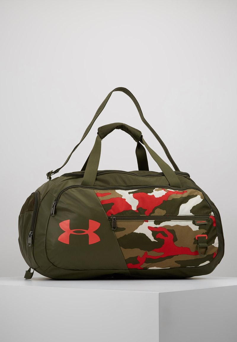Under Armour - UNDENIABLE DUFFEL 4.0 SM - Sportovní taška - summit white/guardian green/martian red