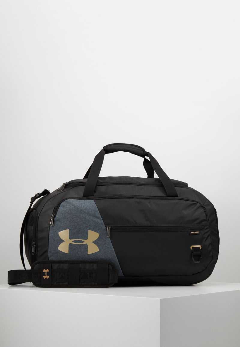 Under Armour - UNDENIABLE DUFFEL 4.0 - Bolsa de deporte - black/metallic gold