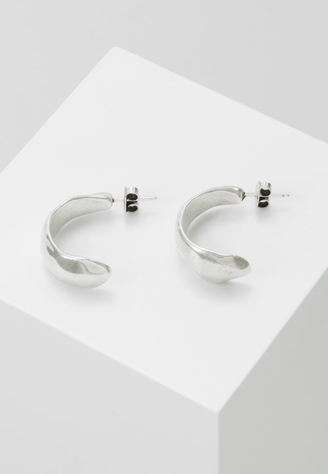 MY NATURE CRESCENT EARRING - Earrings - silver-coloured