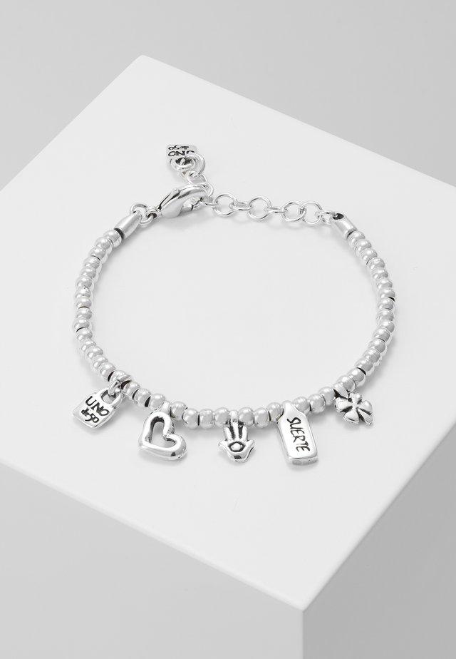 MY LUCK LOVE CHARM BRACELET - Armband - silver-coloured