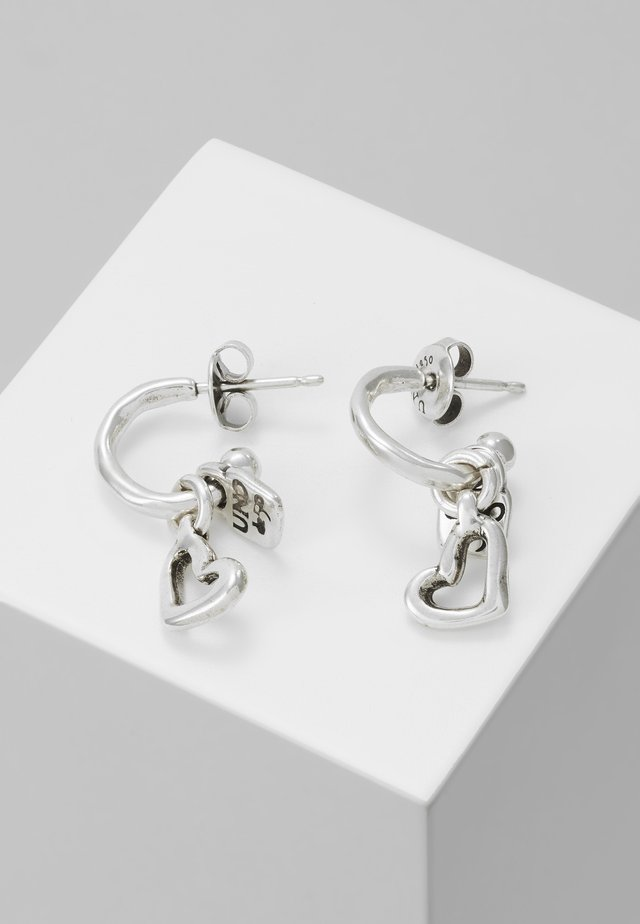 MY LUCK HEART DROP EARRING - Oorbellen - silver-coloured