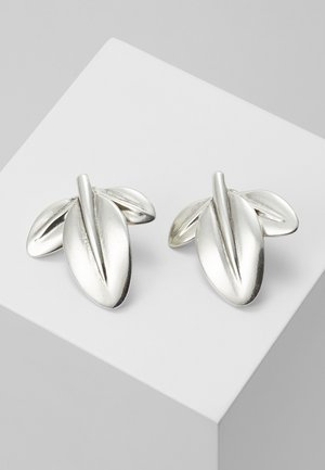 MY NATURE L CHARM LEAF EARRING - Earrings - silver-coloured