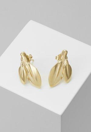 MY NATURE LEAF CHARM EARRING - Earrings - gold-coloured