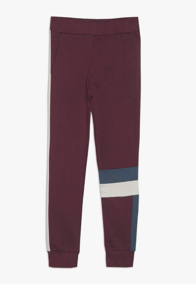 JUSTIN - Pantalon de survêtement - burgundy