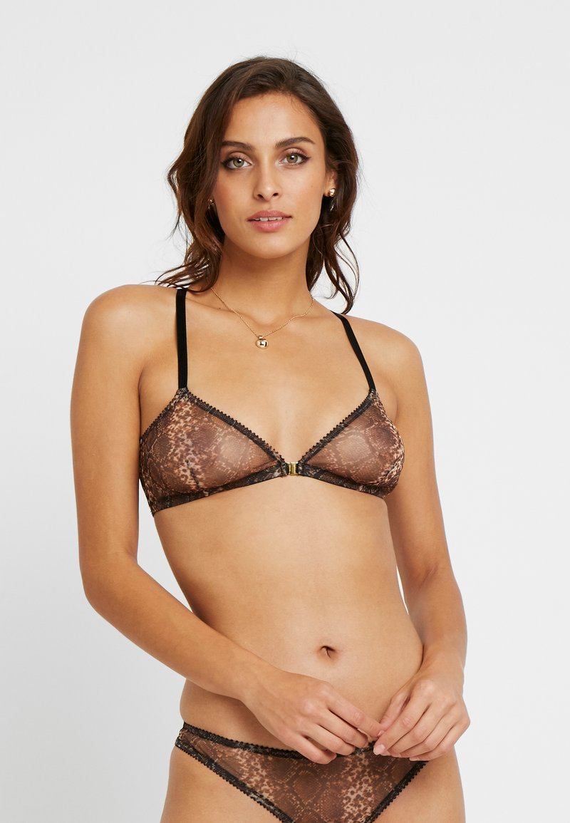 Underprotection - MELINA BRA - Kaarituettomat rintaliivit - dark brown/black