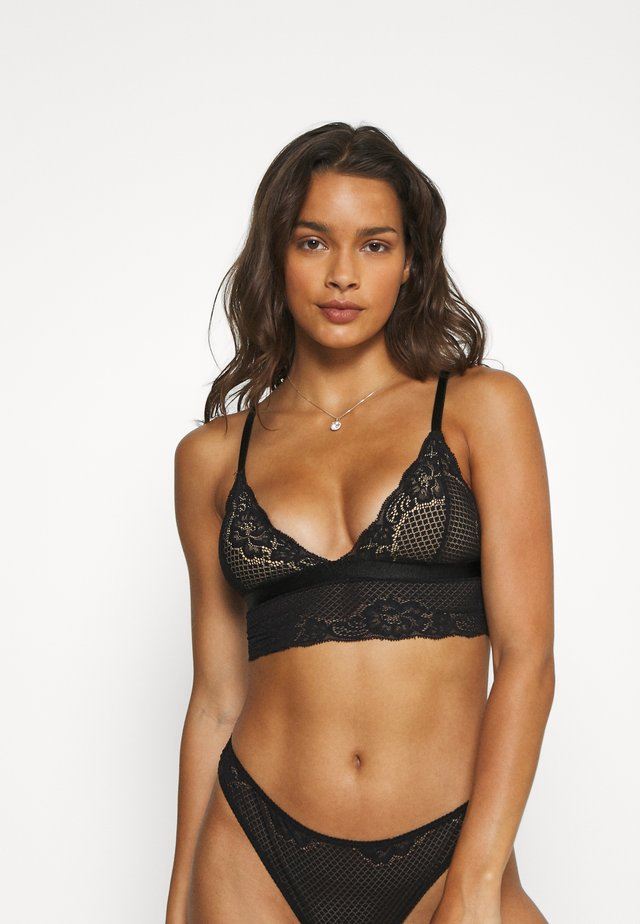 LISA BRALETTE - Triangel BH - black