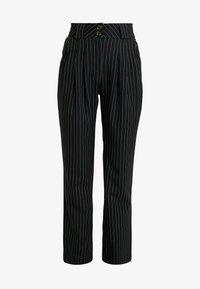 UNIQUE 21 - PINSTRIPE SLIM FIT CIGARETTE TROUSER - Kalhoty - black - 3