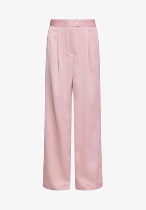 LUXE WIDE LEG TROUSERS - Pantalon classique - lilac