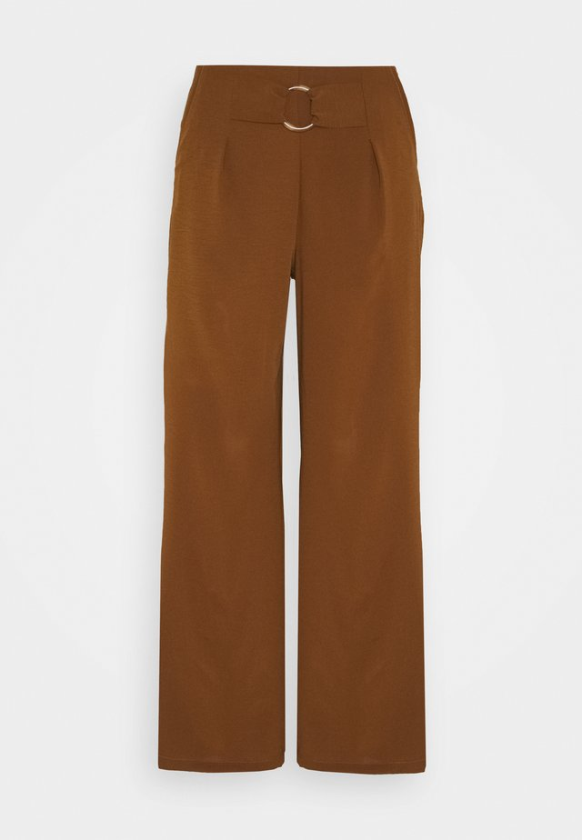 ORING WIDE LEG TROUSER - Pantaloni - brown