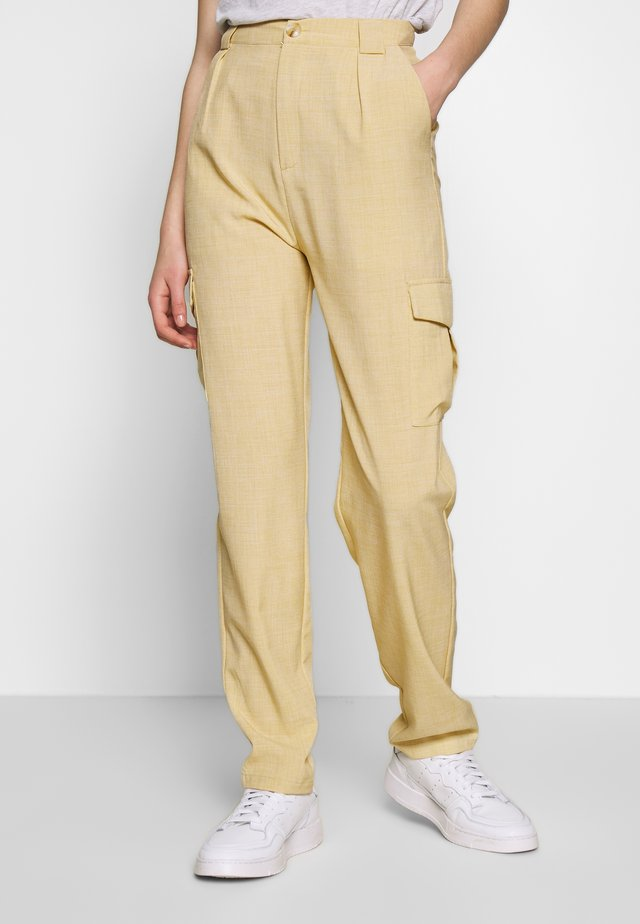UTILITY TAPERED TROUSERS - Stoffhose - beige
