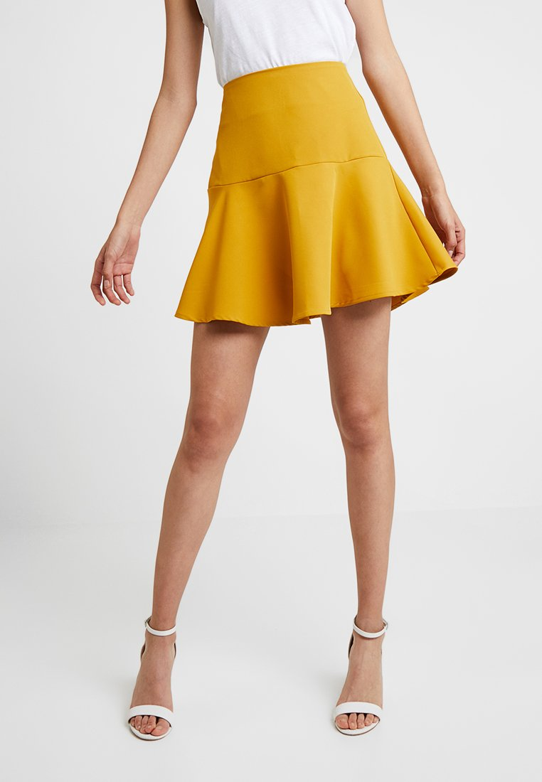 UNIQUE 21 - FRILL HEM  - Minisukně - yellow