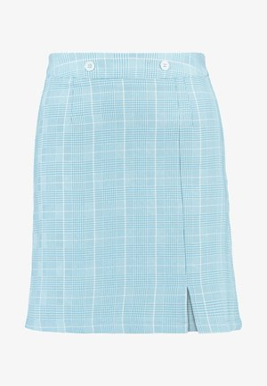 BLUE CHECK MINI SKIRT - Minirock - blue