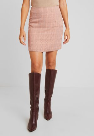 BABY CHECK SKIRT - Minifalda - light pink