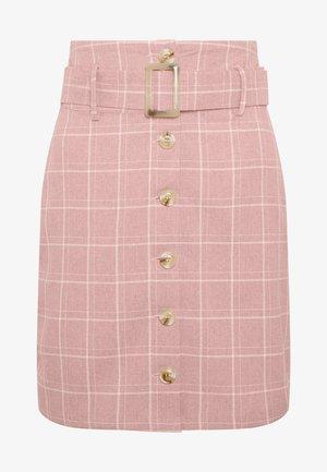 CHECKBELTED  - Spódnica ołówkowa  - pink
