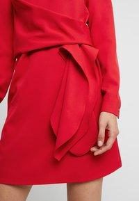 UNIQUE 21 - LONG SLEEVE DRESS TIE - Vestito estivo - red - 5