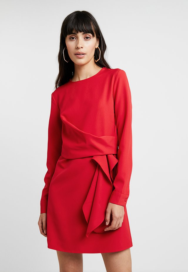 LONG SLEEVE DRESS TIE - Day dress - red