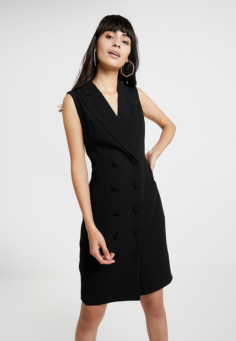 UNIQUE 21 - TAILORED DRESS WITH BUTTONS - Blusenkleid - black