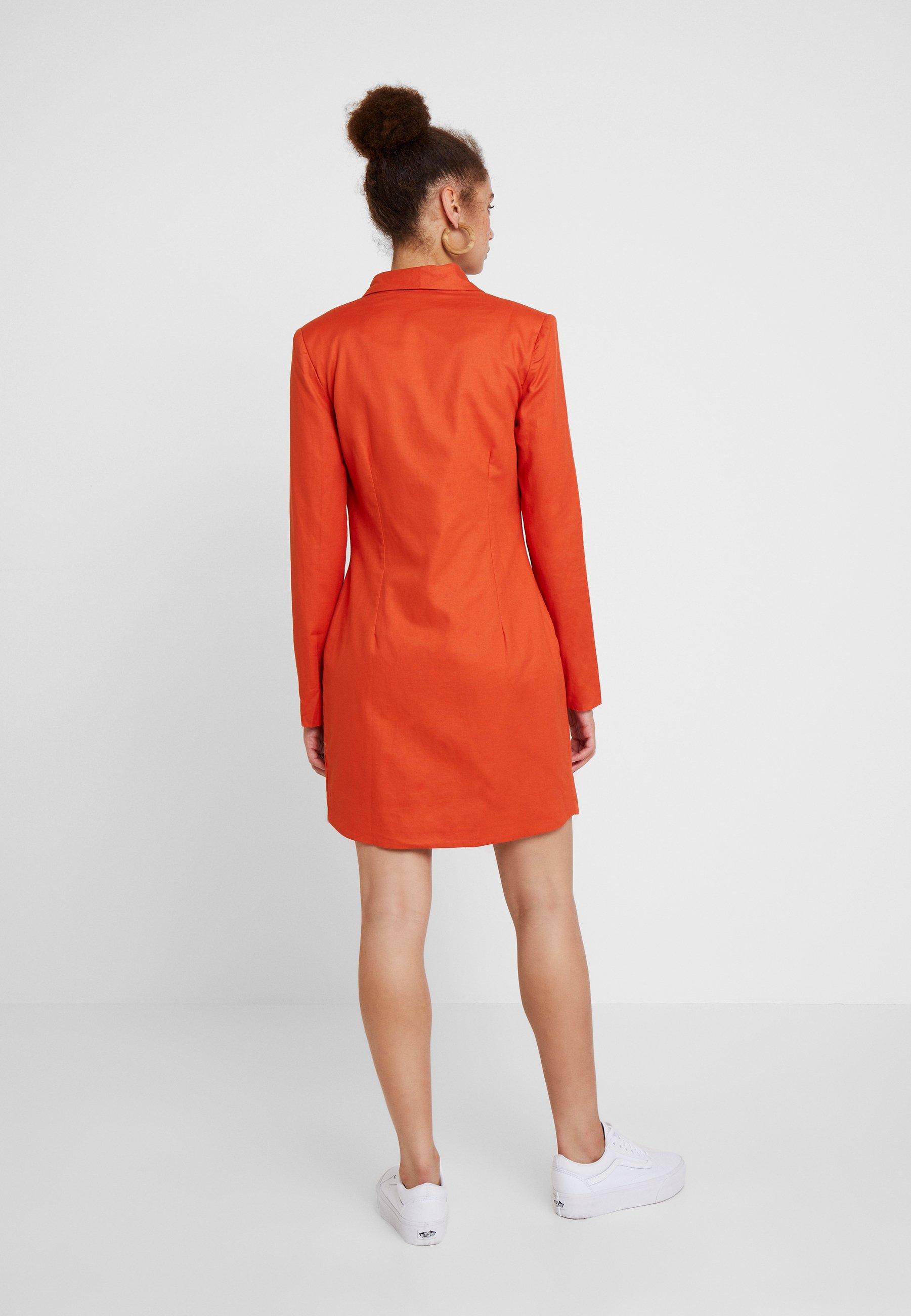 Asymmetric Breasted Orange 21 Blazer Chemise Unique Double DressRobe qVGUzMSp