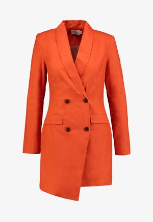 ASYMMETRIC DOUBLE BREASTED BLAZER DRESS - Košilové šaty - orange