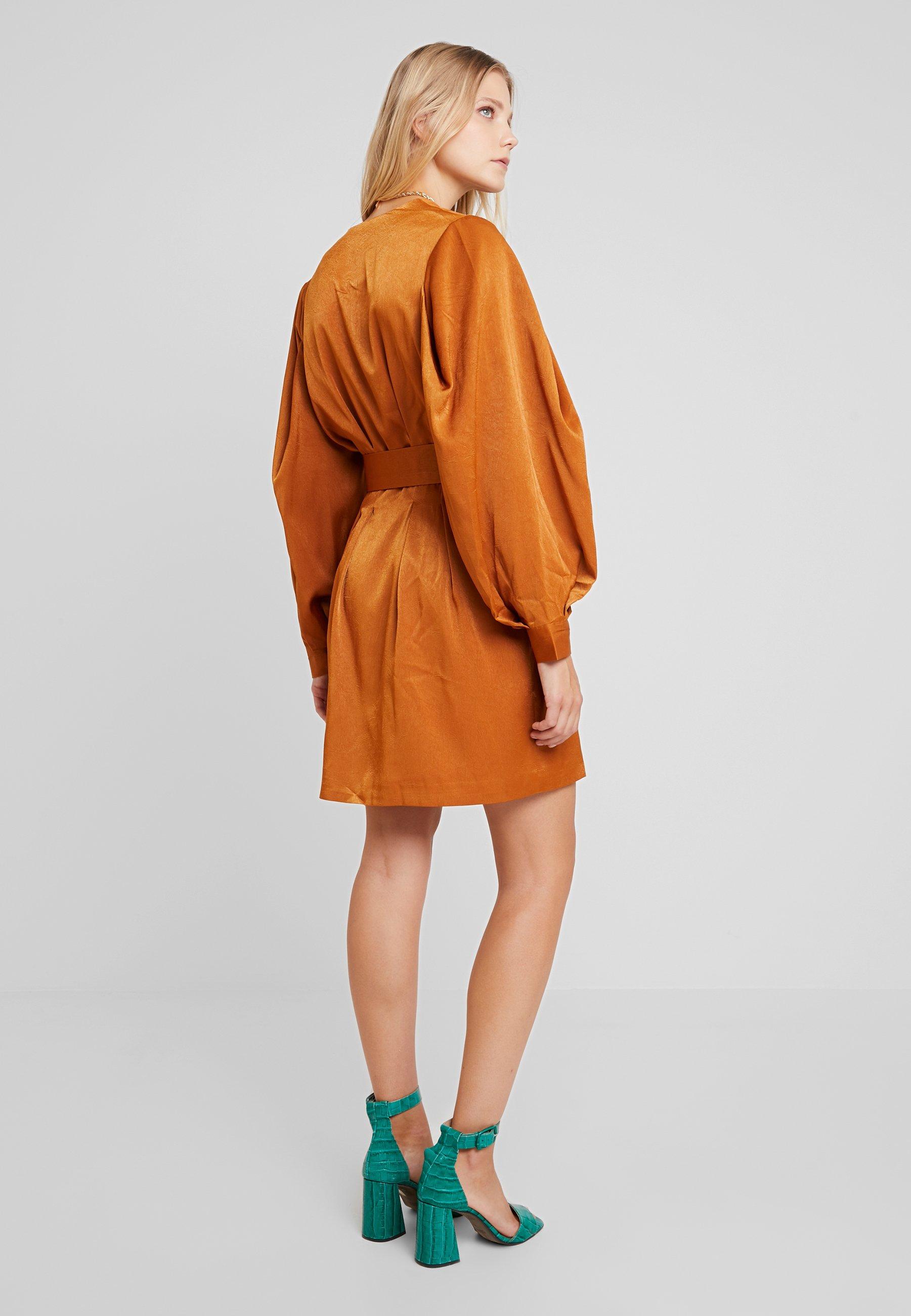 Wrap Unique DressRobe Chemise Luxe 21 Belted Camel ZikOPXu